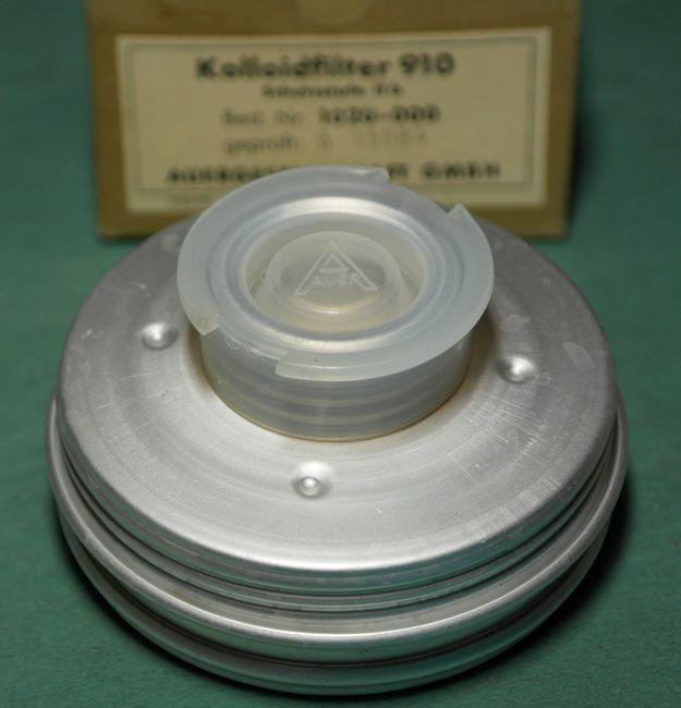 Фильтр противопыльный, для сверхтонкой очистки воздуха от пыли, тумана, аэрозолей, микробных и вирусных частиц. MSA Auer, Германия, фотография 1