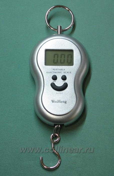 Весы электронные (цифровой безмен) до 40 килограмм, для дачи, рыбалки, фотография 1