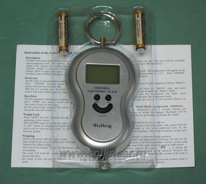 Весы электронные (цифровой безмен) до 40 килограмм, для дачи, рыбалки, фотография 3