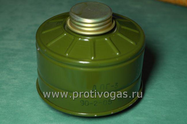 Дополнительный патрон ДПГ-3 для противогазов, защищает от угарного газа и производных аммиака, фотография 1