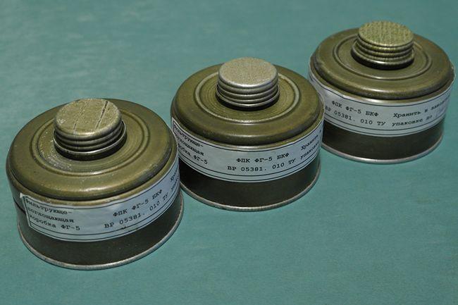 Фильтр промышленный БКФ (универсальный) для защиты от органических и неорганических паров, аэрозолей, газов, пыли, фотография 1