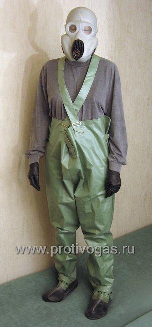 Забродный комбинезон для рыбаков, грибников, диггеров, автолюбителей. Изготовден из плотной ткани БЦК зеленого цвета (как на ОЗК), фотография 1