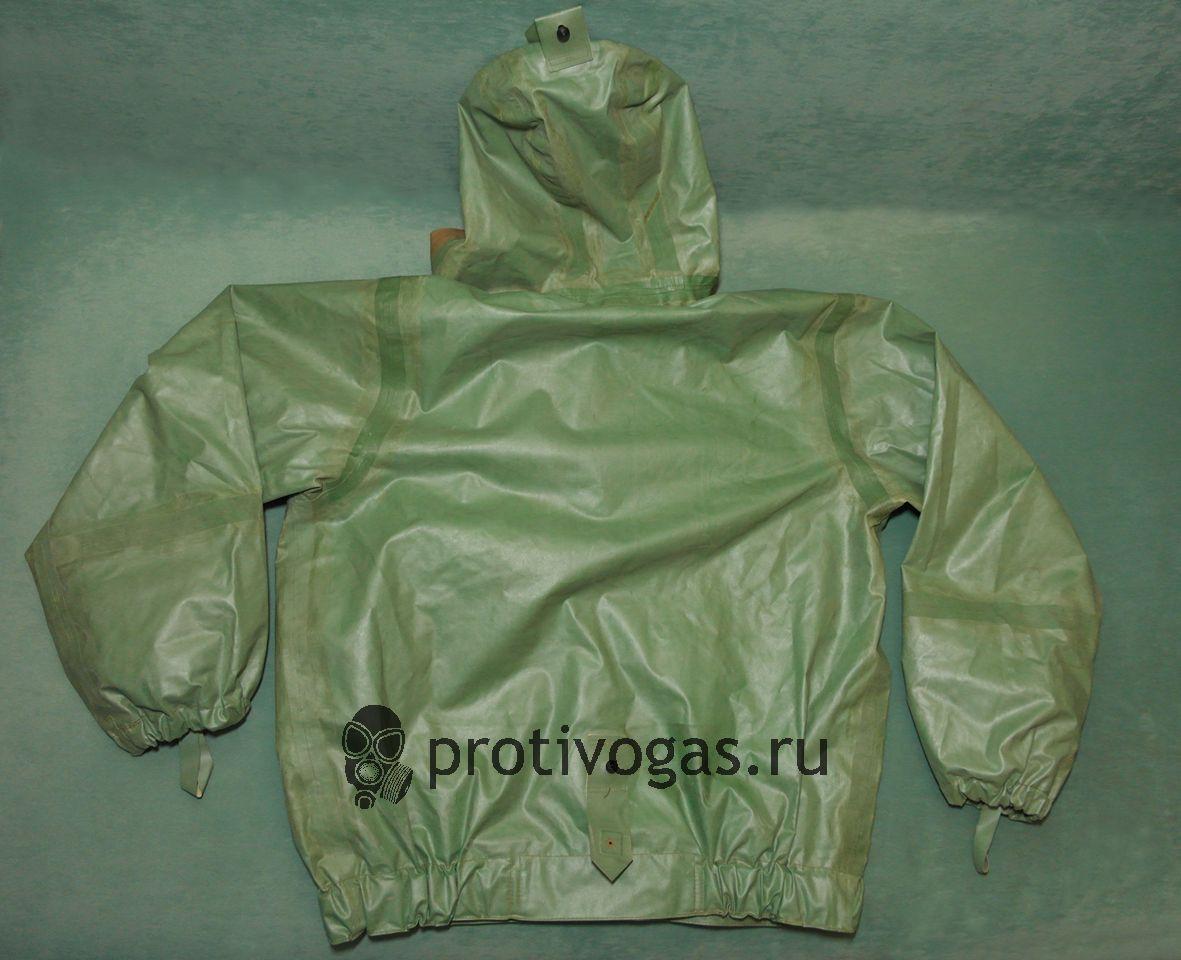 Защитная куртка от костюма химзащиты КЗИ-2, ткань БЦК (зеленая двухсторонняя), фотография 2