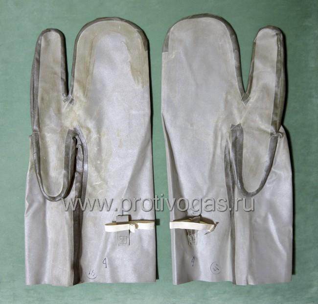 Рукавицы защитные для химзащитного костюма Л-1, фотография 1