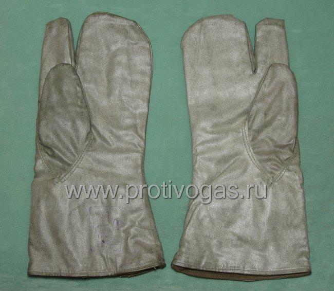 Рукавицы к защитному костюму Л-1 зимние утепленные на подкладке прорезиненные, фотография 1
