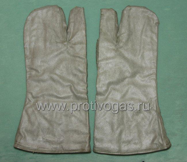 Рукавицы прорезиненные зимние на подкладке для защитного костюма Л-1 утепленные, фотография 2