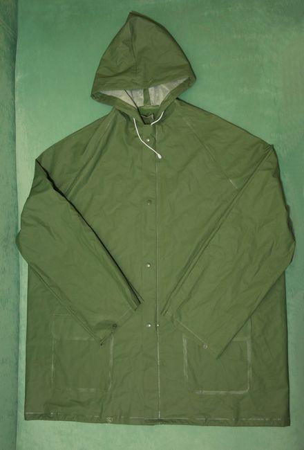 Костюм защитный ПВХ, куртка и полукомбинезон, зеленого цвета, фотография 1