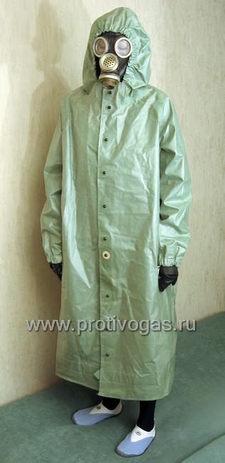 Плащ защитный ОП-1 (от химзащитного костюма ОЗК), фотография 1