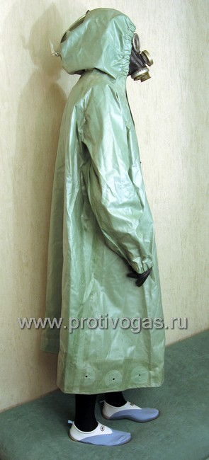 Плащ защитный ОП-1 (от химзащитного костюма ОЗК), фотография 4