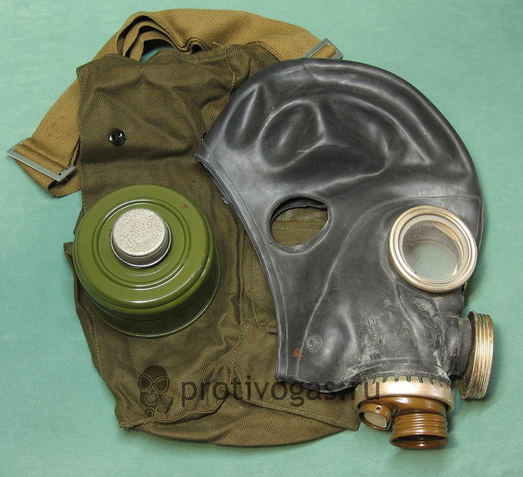 Шлем-маска ШМ66у черная. Противогаз военный ПМГ-2 черный, фотография 1