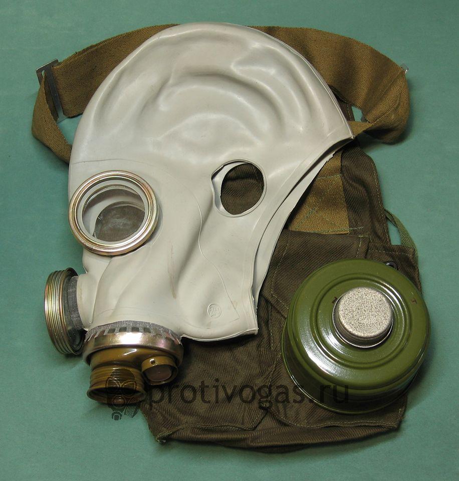 Шлем-маска ШМ66у серая. Противогаз военный ПМГ-2 серый, фотография 1