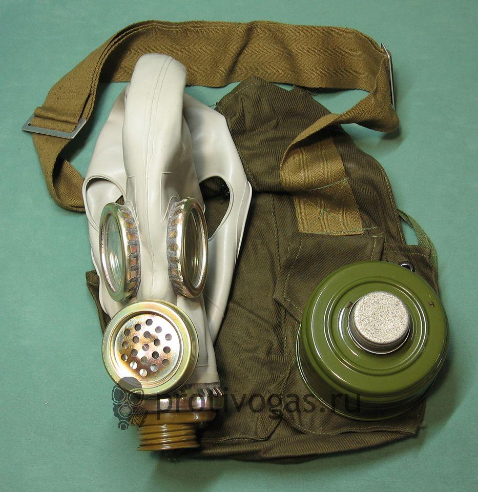 Шлем-маска ШМ66у серая. Противогаз военный ПМГ-2 серый, фотография 2