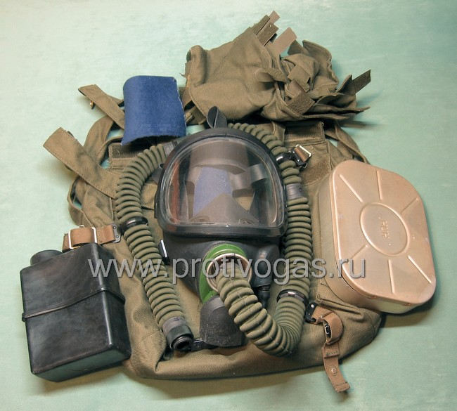 Противогаз летчика ПФЛ армейский с панорамной маской, фотография 1