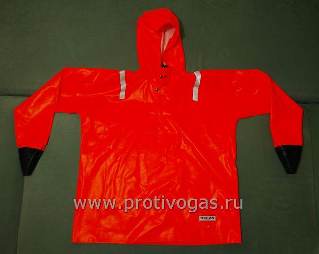 Куртка костюма рыбацкого (Рокон - букса) Ocean размер XXL, рост 182-188 см, плотный ПВХ, герметичные сварные швы, анорак на штормовой застежке, фотография 1
