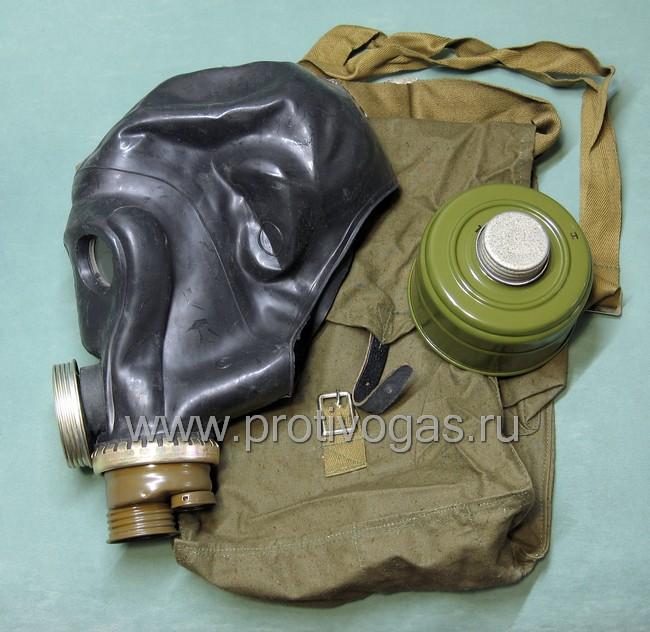 Противогаз войсковой ШМС - шлем-маска ШМС черная, фотография 5