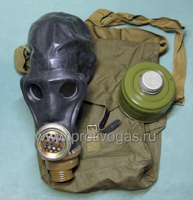 Противогаз войсковой ШМС - шлем-маска ШМС черная, фотография 4