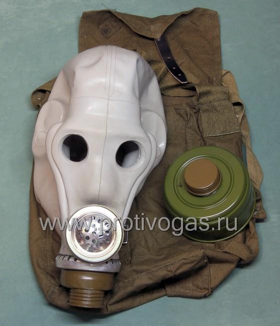 Шлем-маска ШМС серая (противогаз РШ-4), фотография 4