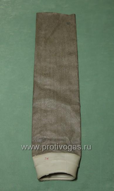 Чехол на шланг прорезиненный, для дополнительной защиты от гептила и механических повреждений, для противогаза ПРВУ, фотография 1