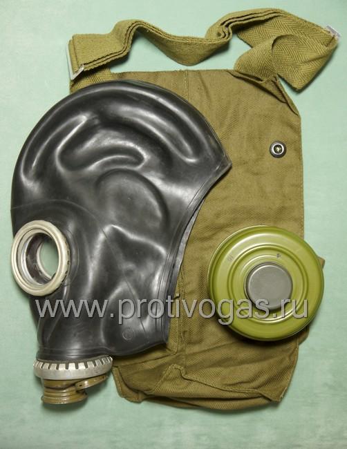 Противогаз гражданский ГП5 с черной шлем-маской, фотография 1