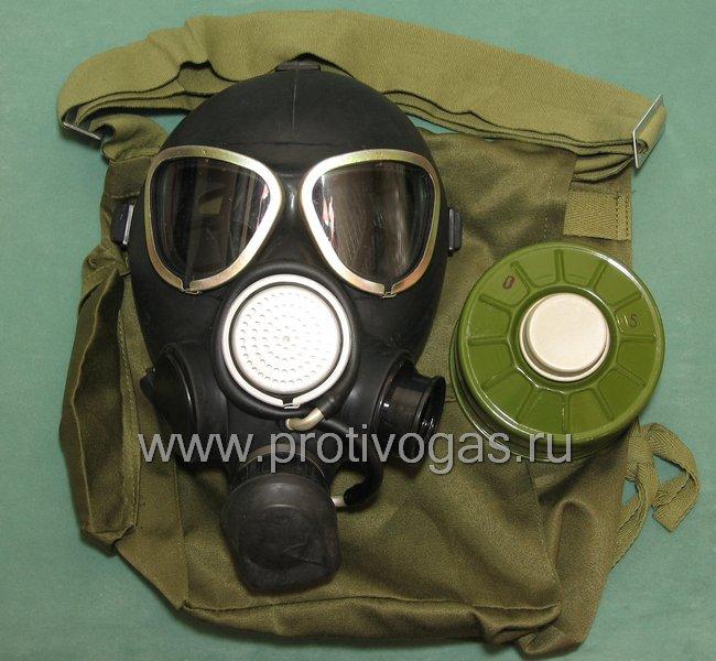 Противогаз гражданский ГП-7-К, возможность переставлять фильтр на правую / левую щеку, устройство для питья, фотография 1