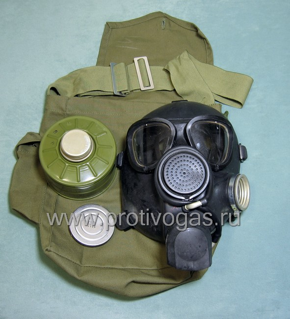 Противогаз гражданский ГП-7 ВМТ с устройством для питья воды в противогазе, фотография 1