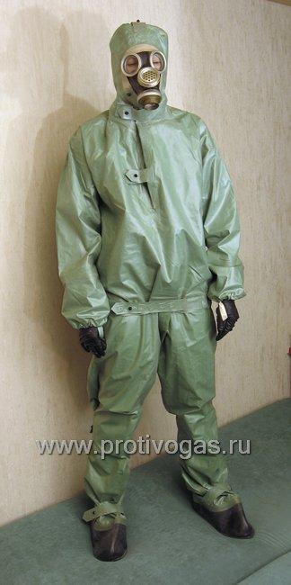 Куртка от защитного изолирующего костюма КЗИ-2, ткань БЦК (как на ОЗК, двойная), фотография 3