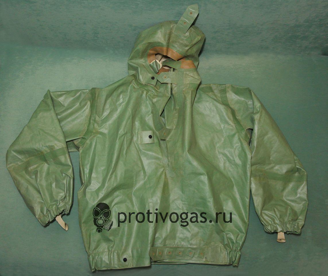 Куртка химзащитная от костюма КЗИ-2, 1 рост, ткань БЦК (двухсторонняя), фотография 1