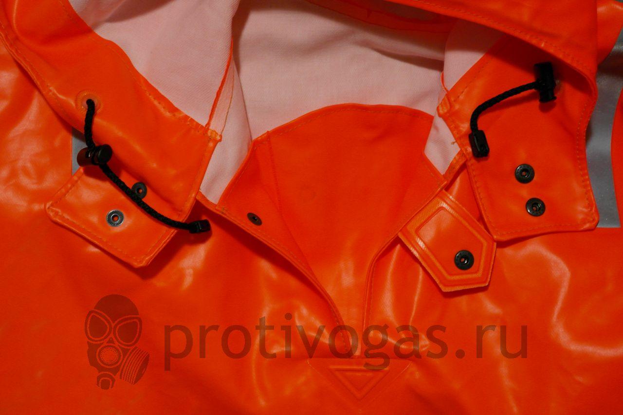 Куртка - анорак рыбацкого костюма Ocean (Okean, Океан), особенности штормовой застежки куртки, горловины и капюшона, фотография 9