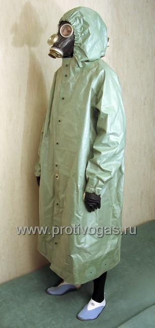 Плащ с капюшоном ОП-1 (от химзащитного костюма ОЗК), фотография 2