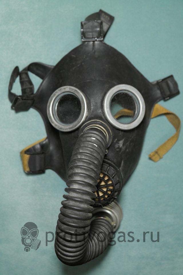 Противогаз (школьный) детский ПДФ, черная маска, фотография 2