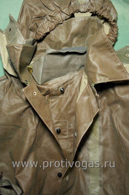 Защитная куртка из прорезиненного материала для промышленного противохимического костюма, фотография 3