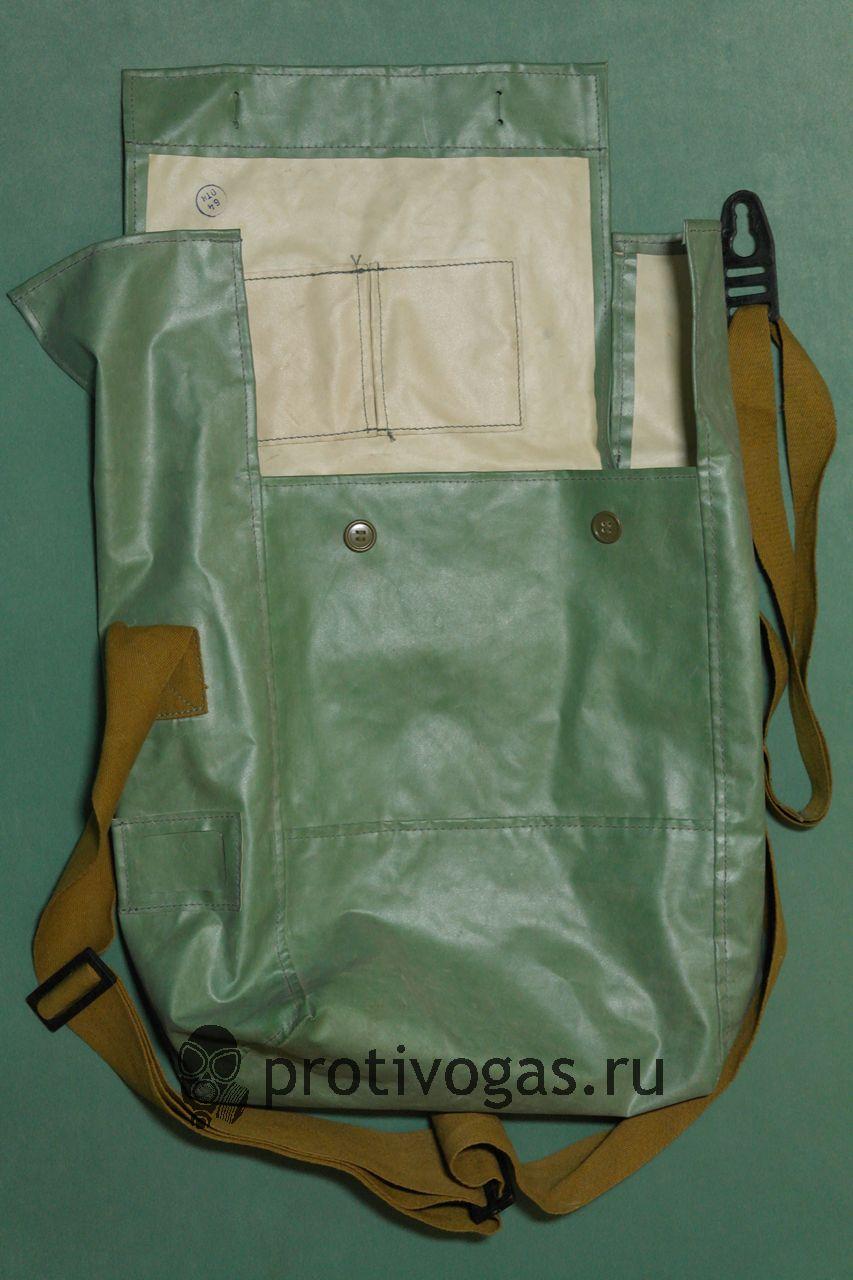 Большая сумка из ткани БЦК (зеленого цвета) для изолирующих противогазов ИП-5, ИП-46, фотография 1